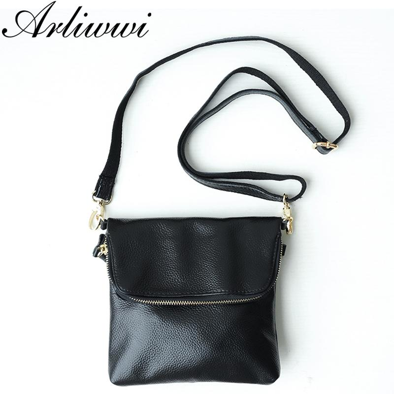 64c63b03c829 Arliwwi Delicate 100% Genuine Leather Cross Body Handbag For Women Multi  Colors First layer Cowhide Messenger Bags
