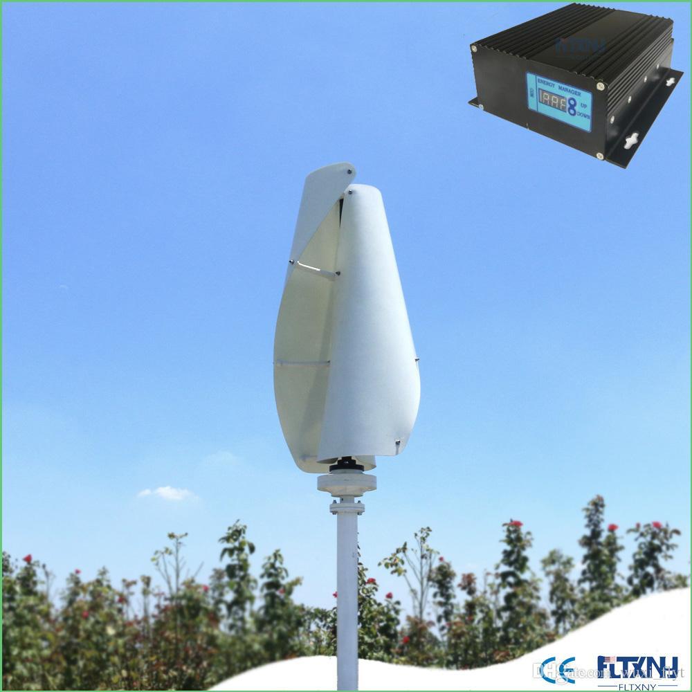 f8376fb269e Compre Gerador De Vento Vertical Do Gerador Do Ímã Permanente Da Turbina  Eólica 500w 48v Com De Wuxi flyt