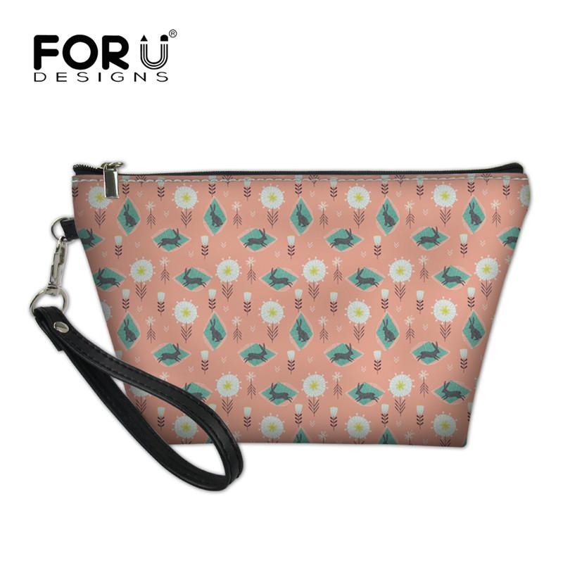 a57084c6fd10 FORUDESIGNS Garden Animal Printed 2018 Women Cosmetic Bag Travel ...