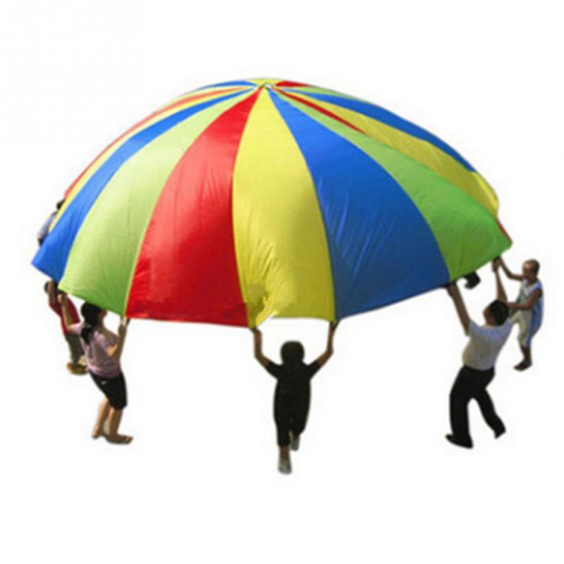rainbow parachute childrens games kindergarten parent