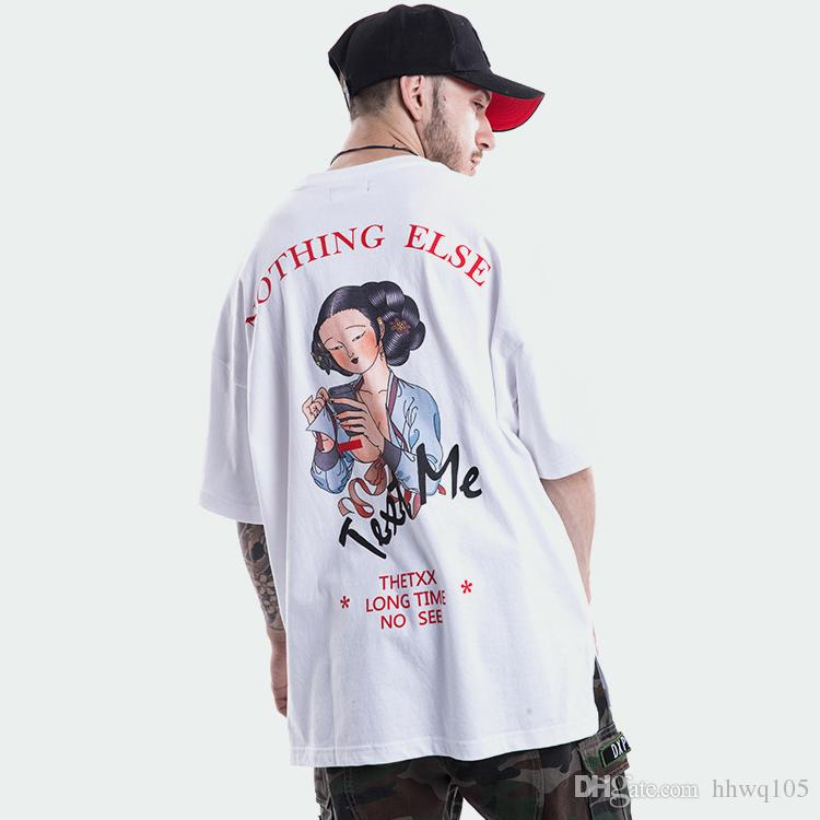 d42568fa 2018 New Abstract Graphic T Shirt White Black Chinese Beauty Print  Oversized Tees Men Women Couples Short Sleeve Cool Club Shirt TXH0319 Best  Designer T ...