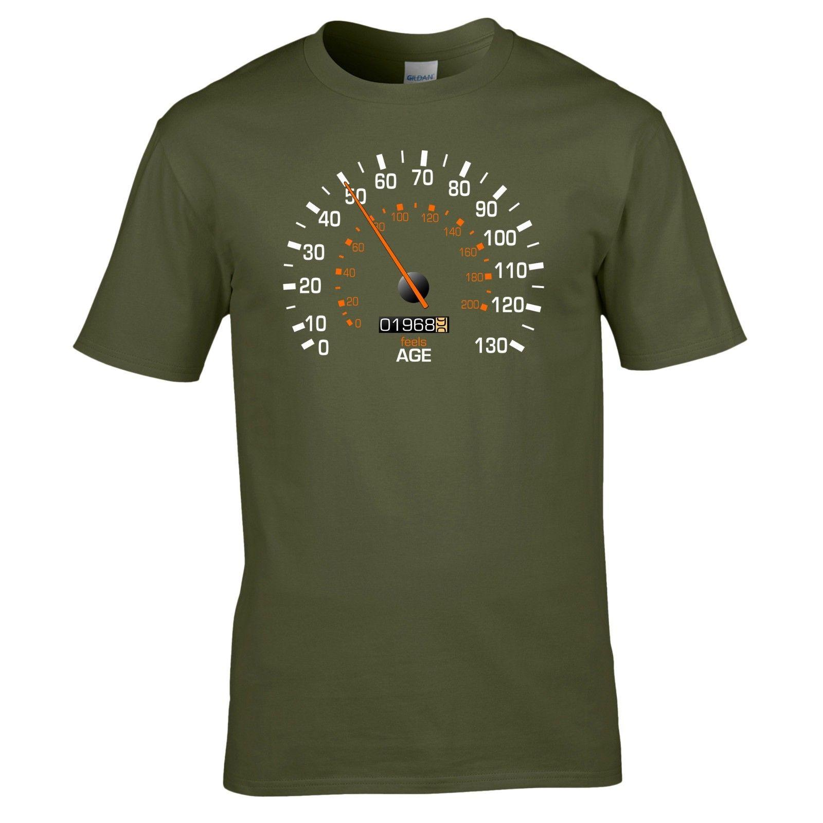 Speedometer 1968 50th Birthday T Shirt Funny Feels Age Year Present Mens Gift Cool Casual Pride Men Unisex New Fashion Tee Shirts