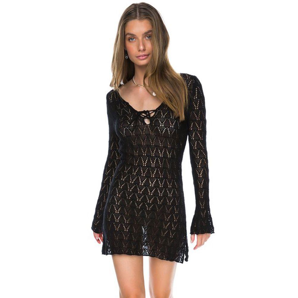 4b3948d840 2019 Sexy Beachwear Hollow Out White Crochet Tunic Beach Mini Dress Swim  Wear Women 2018 Solid Summer Cover Up Dresses Robe De Plage From Jf888jf