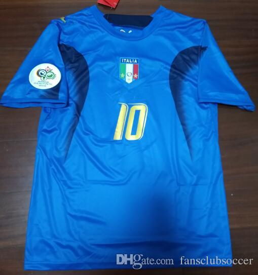 cc6179fb022 2019 2006 World Cup Italy Retro Soccer Jersey Retro Pirlo Inzaghi Cannavaro  06 Italia Vintage Football Shirts From Fansclubsoccer