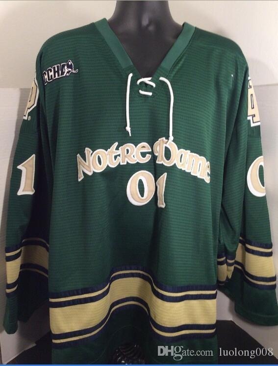 promo code f2a39 5a343 Vintage Notre Dame CCHA Hockey Jersey Embroidery Stitched Customize any  number and name Jerseys