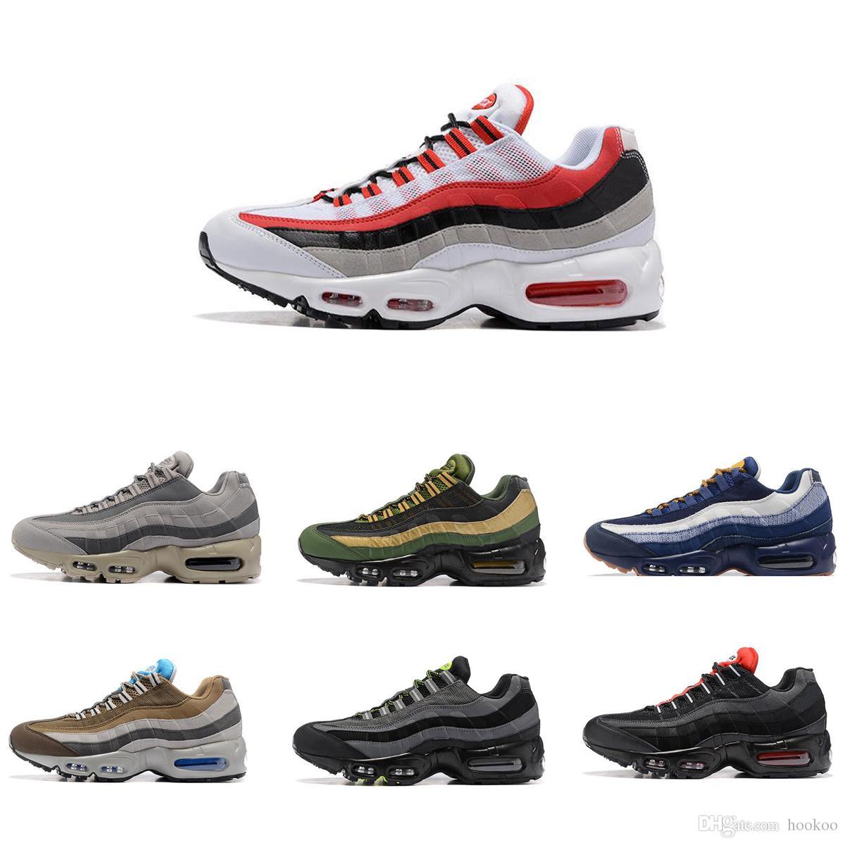the best attitude 09011 be88e Acheter Nike Air Max95 NIKE Airmax 95 2018 NOUVEAU Drop Shipping En Gros  Casual Chaussures Hommes Coussin 95 Sneakers Bottes Authentique 2017 Nouveau  Marche ...