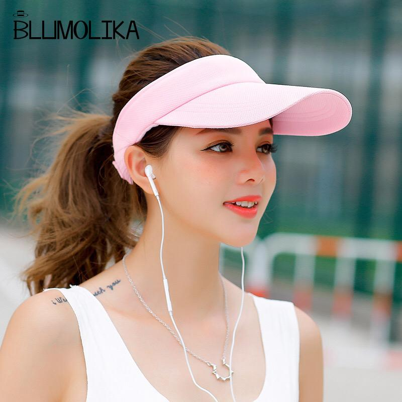5219d86fd0f Long Peak Girl s Topless Tennis Caps Black Pink White Color Sun Hats For  Women Summer Sport Visor Hat Beach Outdoor Wholesale Snapback Hats Straw Hat  From ...