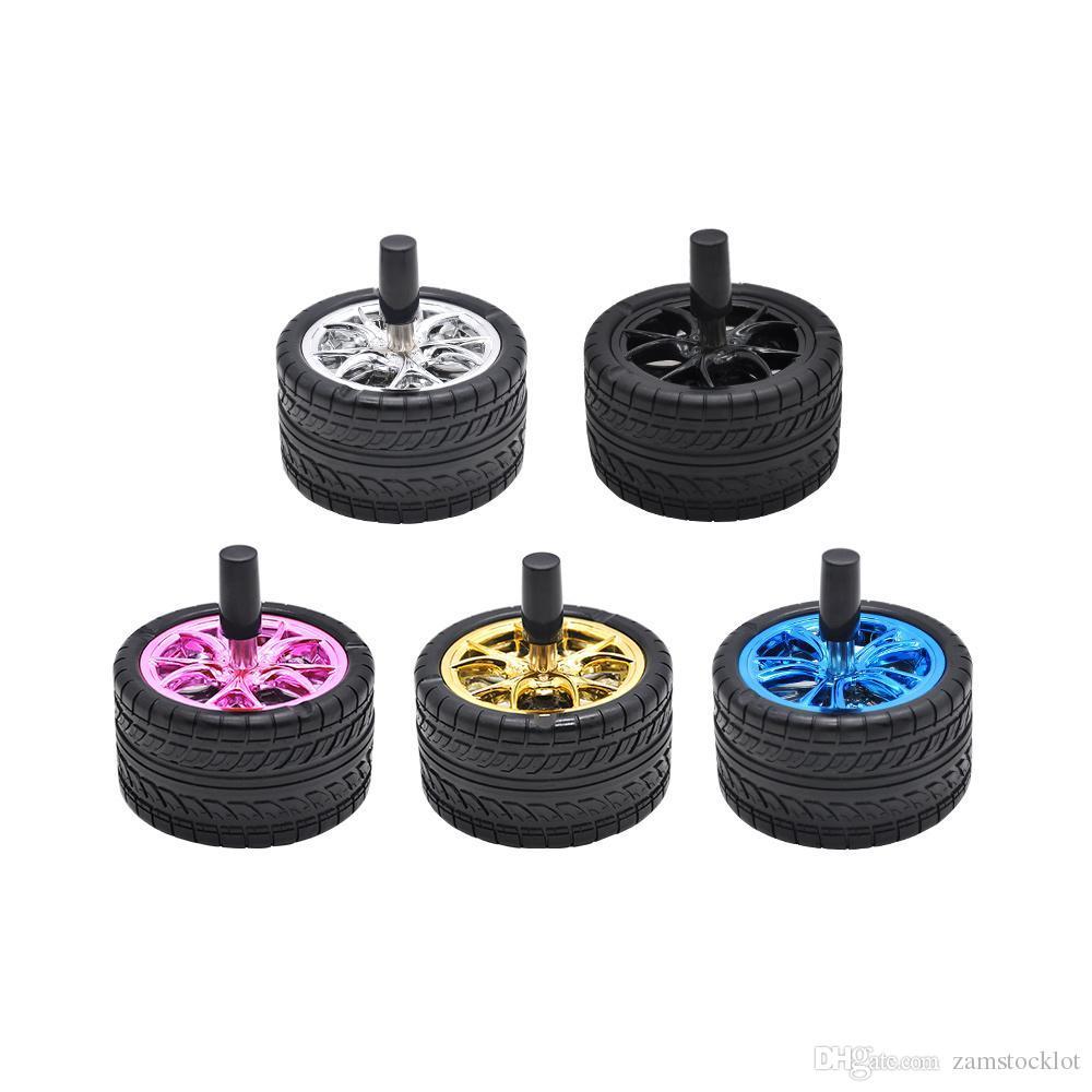 Cheap Car Tires >> Honeypuff Creative Rubber Car Tires Ashtray Press Rotary Portable Ash Tray Ashtray Metal Ashtrays With Lids Silicone Ashtray
