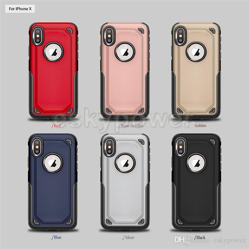 Coque arrière hybride 2 en 1 Coque mat Armure dépolie pour Defender Coque arrière pour iPhone X Xr Xs Max 8 7 6 6S Plus