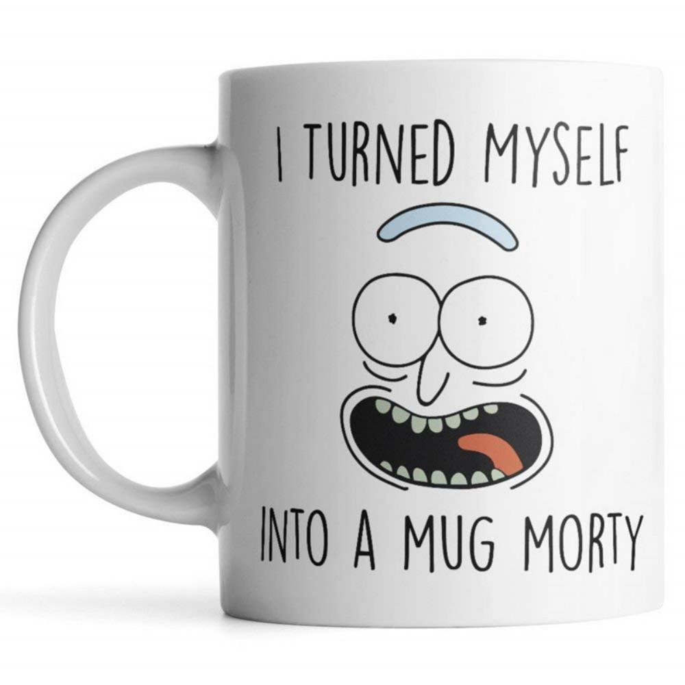 9ea4cc931eb Rick and Morty Mug I Turned Myself Into a Mug Morty Rick Sanchez Coffee Cup