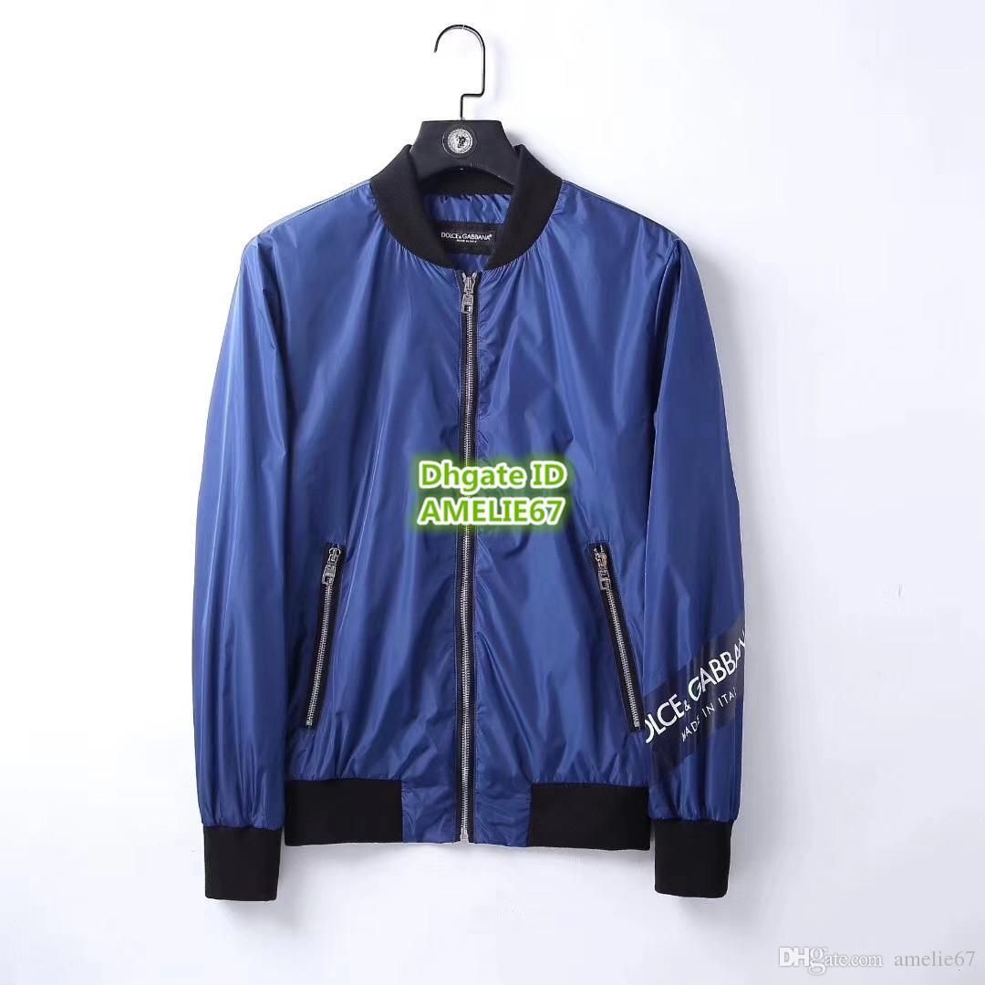 2876cf73ec6163 Acheter Dolce 2018 Gabbana VESTE BOMBER EN NYLON AVEC PATCHES Mode Homme  THE Veste Bomber Personnalisée Haut De Gamme En Nylon Vestes Légères  Vêtements De ...