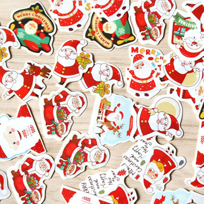 merry christmas decorative sticker santa claus shaped envelope seal