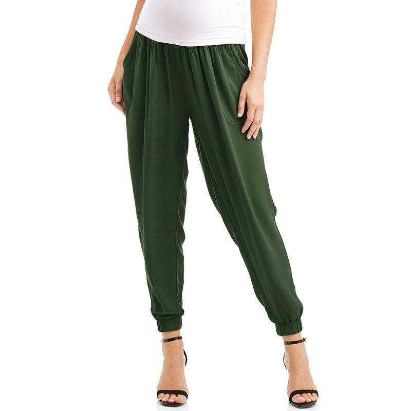 55f02c1257c 2019 Plus Size 2018 Pregnant Women Harlan Pants Casaul Rayon Bottoms Capris  Loose High Elastic Waist Splice Maternity Trousers From Sport xgj
