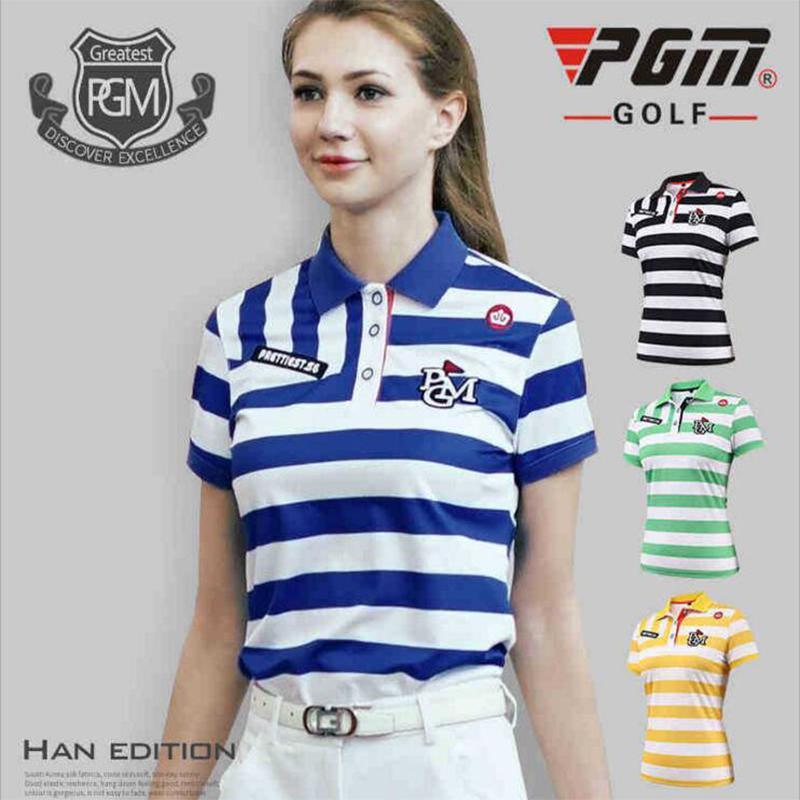 2019 PGM Golf Women Clothing Polo Shirt Brands 2018 Summer High Quality  Stripe Golf Shirts Short Sleeve Ladiesdry Fit Shirts From Yangmeijune 87ef8a22d2