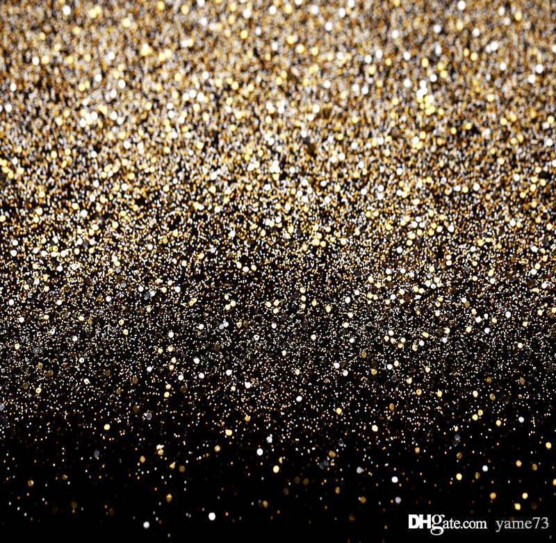 2019 5x7ft vinyl glitter black gold dots photography studio backdrop