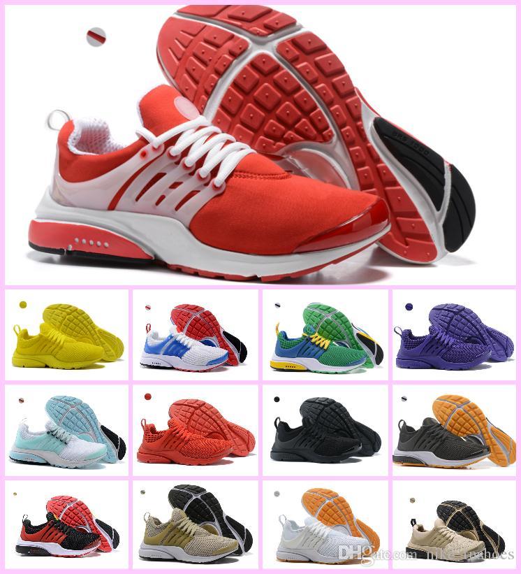 reputable site 3fe93 1cb1b Acheter Wholesale 2018 Running Chaussures PRESTO BR QS Femmes Hommes Triple  Blanc Noir Breathe Greedy OREO Jaune Rouge Bleu Sneakers Sport US 5.5 12 De  ...