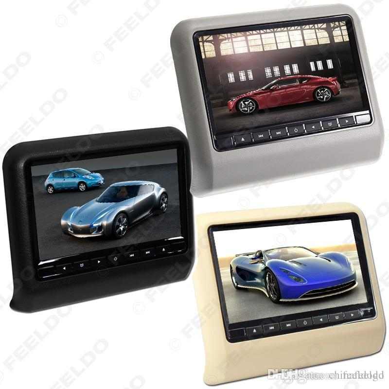 "Car Video 9"" Digital HD Car Headrest LCD Hanging DVD Player With FM/Game/Remote/USB/SD Slot 3-Color Option #3858"