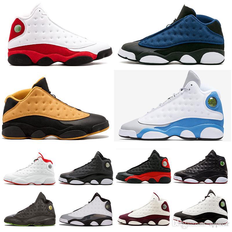 fe8a7d2eefe0e2 13 13s Mens Basketball Shoes Phantom Chicago Black Cat Bred Pure ...