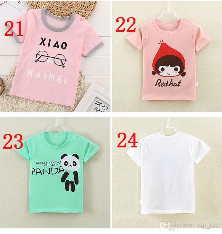 INS T-Shirts Kurzärmeliges Kinder-T-Shirt aus Baumwolle mit halben Ärmeln für Jungen und Mädchen. Jacke Hemd T-Shirt Sommer V 002