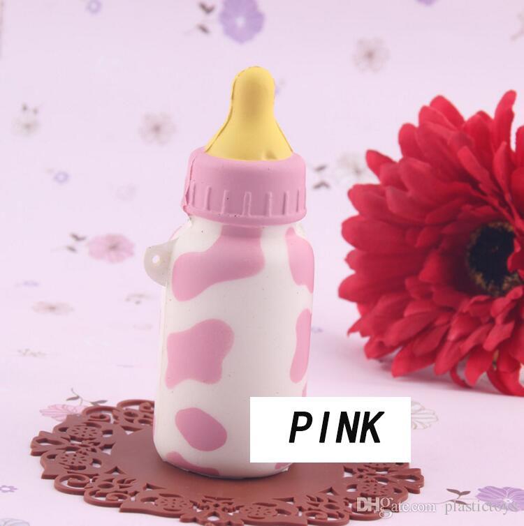 Çocuklar Squishy PU oyuncaklar yumuşak şişe karakter yaratıcı cep telefonu kolye moda mini kek eğitici oyuncaklar