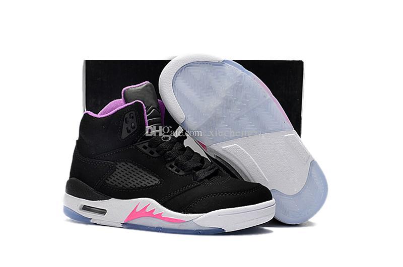 9bc418c44091cc Nike air Jordan 5 11 12 retro Crianças Big boy shoes Frete Grátis XII GS  Rosa Limonada Sapatos de Basquete Womens Crianças 12 s Rosa Limonada XII  Tênis ...