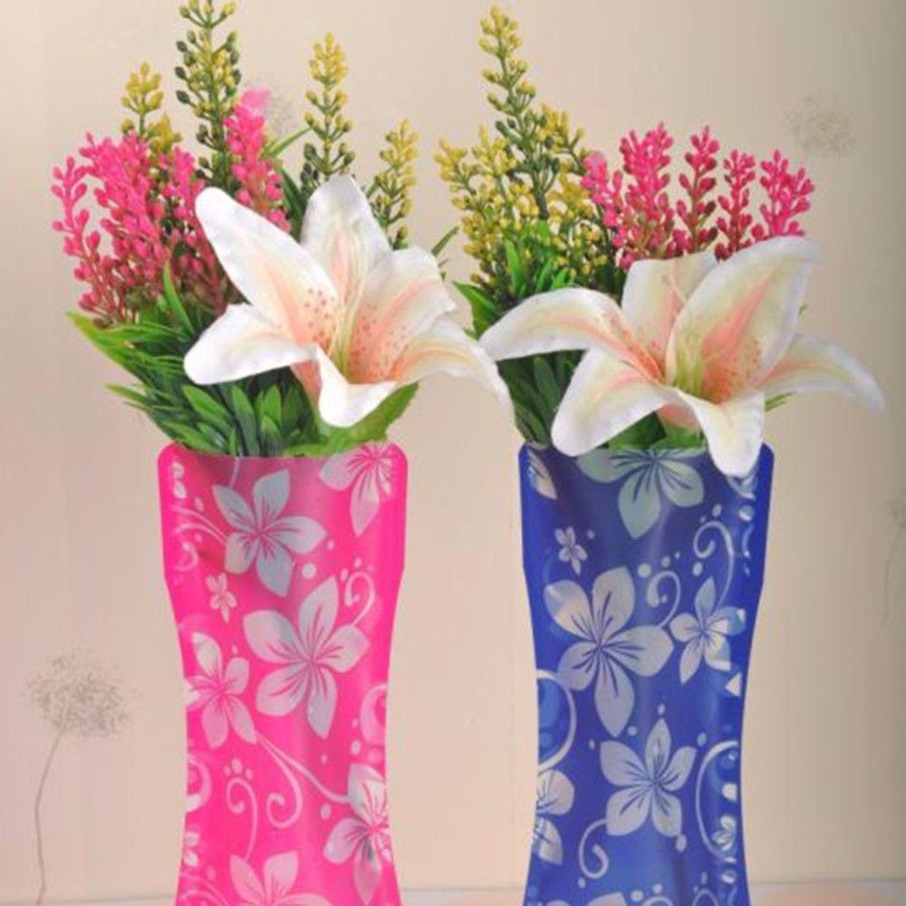 High Quality Foldable Folding Flower Vase Pvc Durable Vase For Home