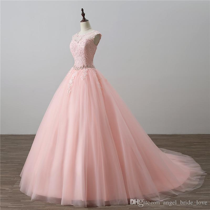 2018 Newest Ball Gown Quinceanera Dresses Beaded Prom Sweet 16 Dress Plus Size Lace Up Vestido De 15 Anos Q80
