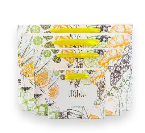 Animal Series Packaging Fruit tea printing paper bag Paper Bag Flamingo Gift Bag 18*16*6cm