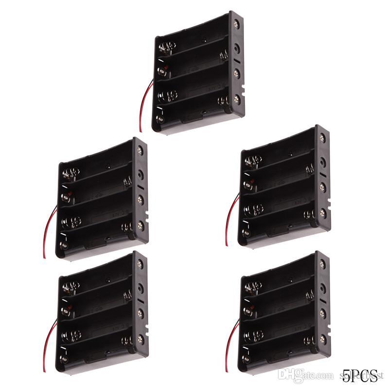 5 adet 18650 Pil Tutucu Güç bankası Marka Plastik Pil Tutucu Saklama Kutusu Kasa için 4x18650 Pil Tutucu