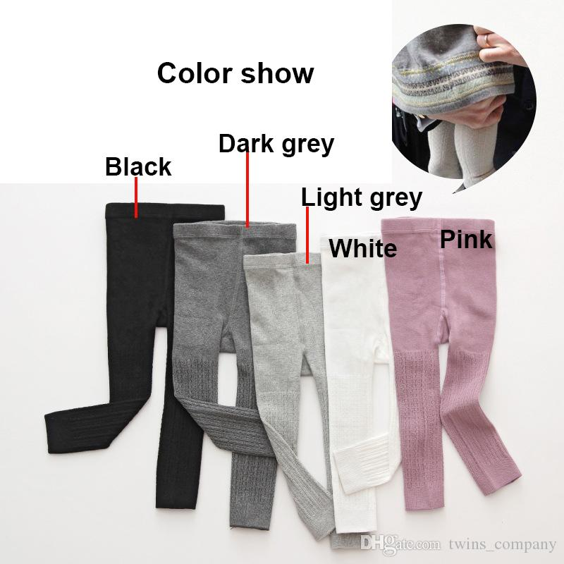 Spring Autumn cotton baby trousers pantyhose with baby large PP leggings Children's knitted cotton wild lovely cotton leggings