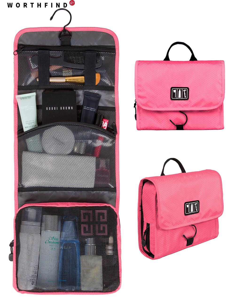 cce8981aa7 2019 WORTHFIND Toiletry Makeup Bag Waterproof Cosmetic Bag Large Women  Travel Storage HandBag Organizer Travel From Faaa
