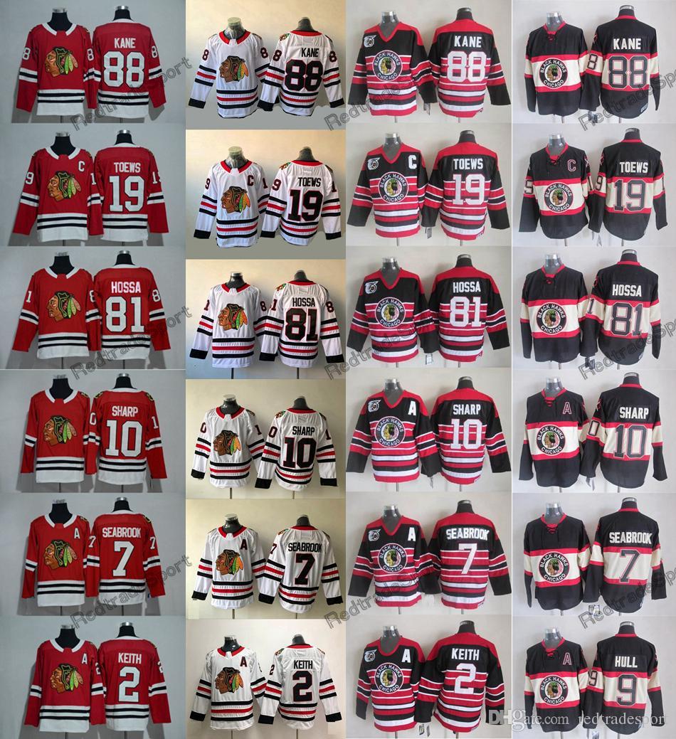 6900650b1 2019 2009 Winter Classic Chicago Blackhawks 81 Marian Hossa 88 Patrick Kane  2 Duncan Keith 7 Brent Seabrook 19 Jonathan Toews Sharp Hockey Jersey From  ...