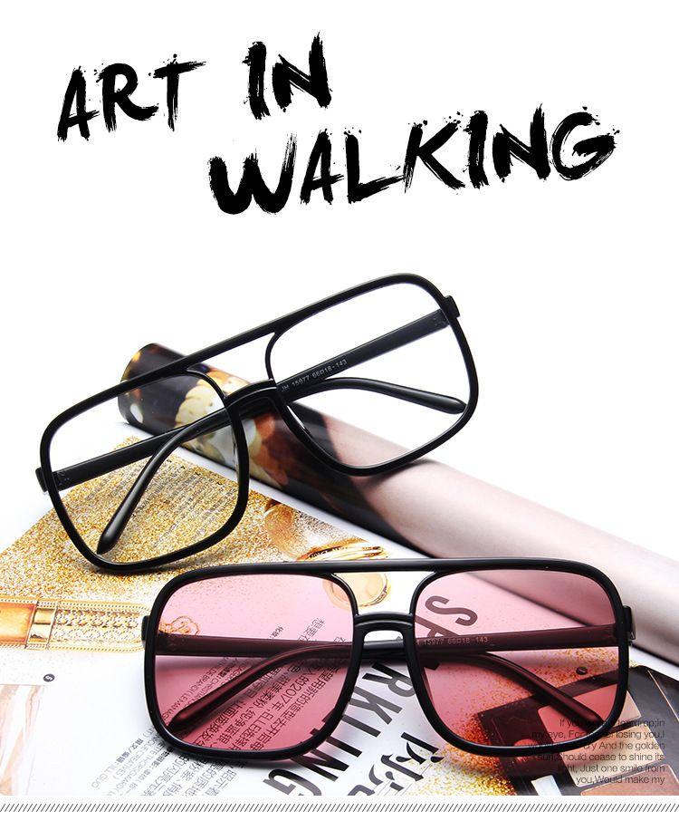 New Vintage Sunglass Fashion Sunglass Women Popular Designer Big Full Frame Top Quality Sunglasses