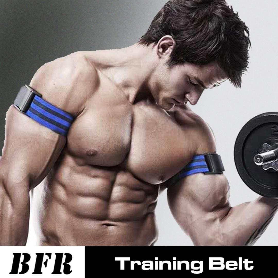BLUE BICEP STRAP/'s Max Bicep Blood Flow Restriction Occlusion Training MAXIMUM