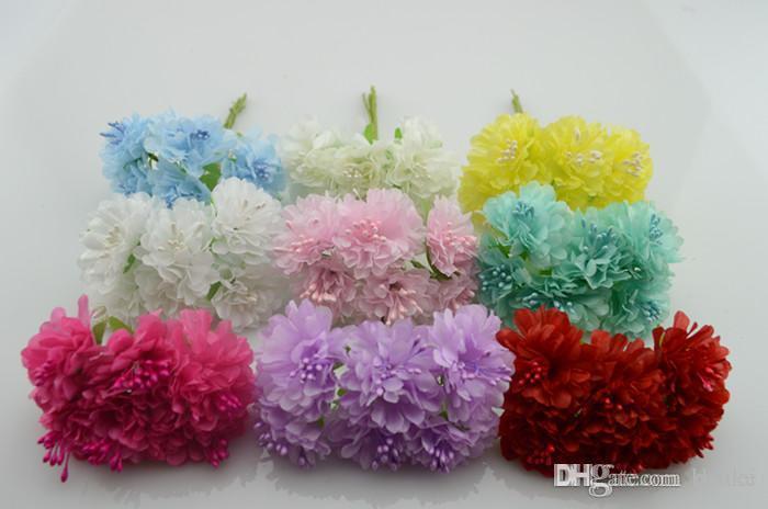2019 Wholesale Bunch 4cm Artificial Flowers Silk Flower Diy