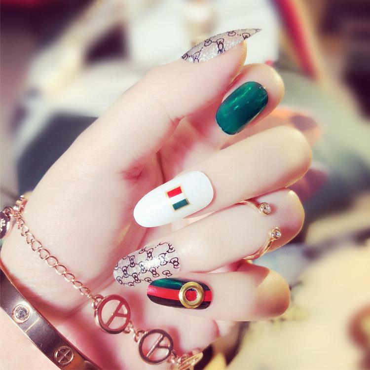 Fashion Long Fake Nails Tips Fashion False Nails Tips Fake Nail With ...