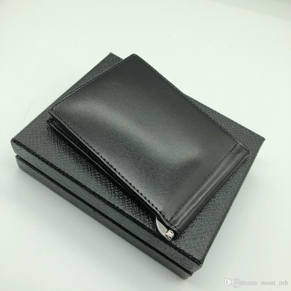 New Hot Men's Wallet MB Deluxe Card Case Folding Black Short Credit Card Holder MT Pocket High Quality Wallet