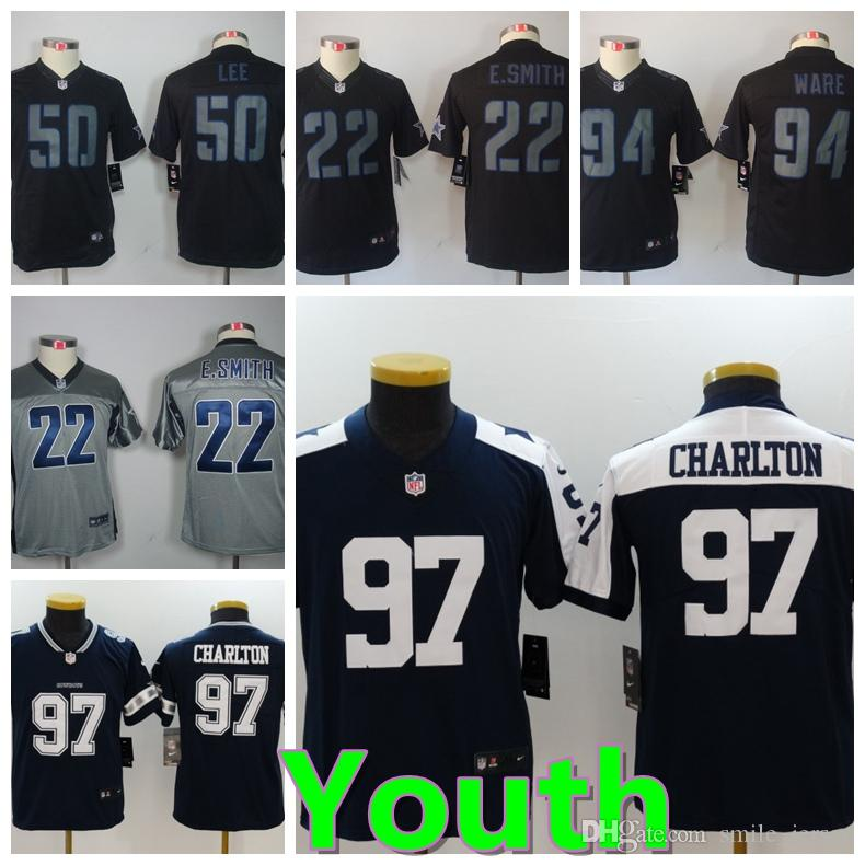 online store 83d9e 0d723 Youth 97 Taco Charlton Dallas Jersey Cowboys Football Jersey Stitched  Embroidery Kids 22 Bob ayes 50 Sean Lee 94 Ware FootballH Boys Jersey
