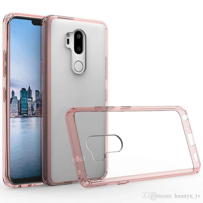 Pour Motorola K10 2018 G7 Motorola MOTO E5 E5 plus E5 Play Z3 jouer Crystal Transparent Acrylique + TPU Anti-chute arrière housse