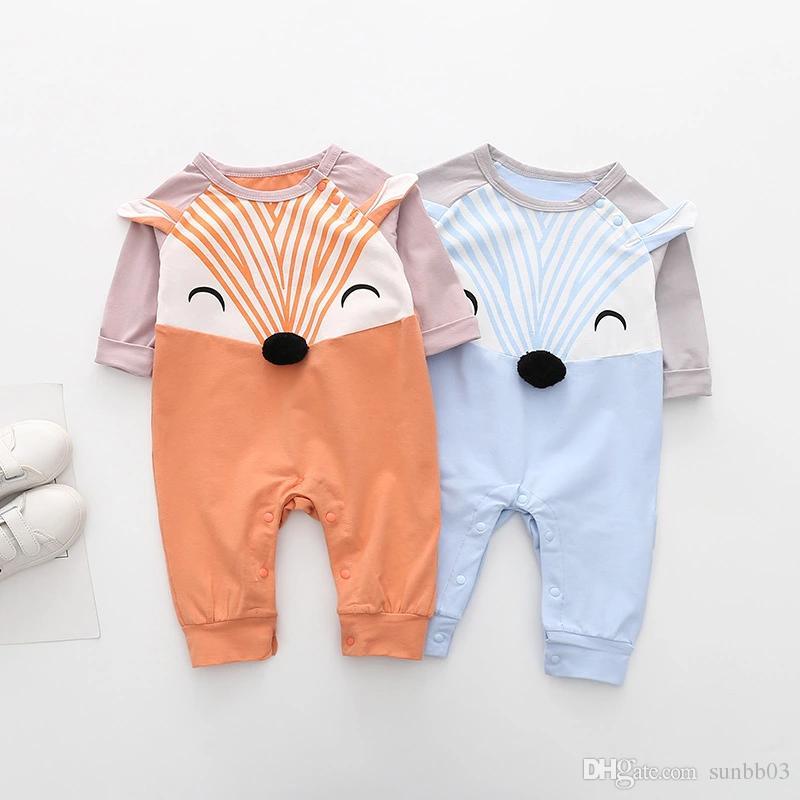 Compre Nuevo Otoño Infantil Bebé De Dibujos Animados Fox Mamelucos Niños  Niñas Mamelucos De Algodón Niño Bebés De Manga Larga Subir Ropa 14119 A   40.26 Del ... 9347af93a5256