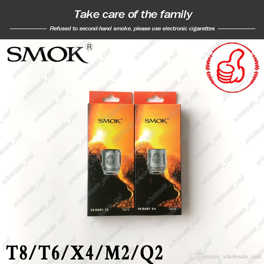 100% Original SMOK TFV8 Baby Coils Head V8 Baby-T8 Baby-T6 Baby-X4 Baby-Q2 Baby-M2 Replacment coil For TFV8 BABY Beast Tank 100% genuine