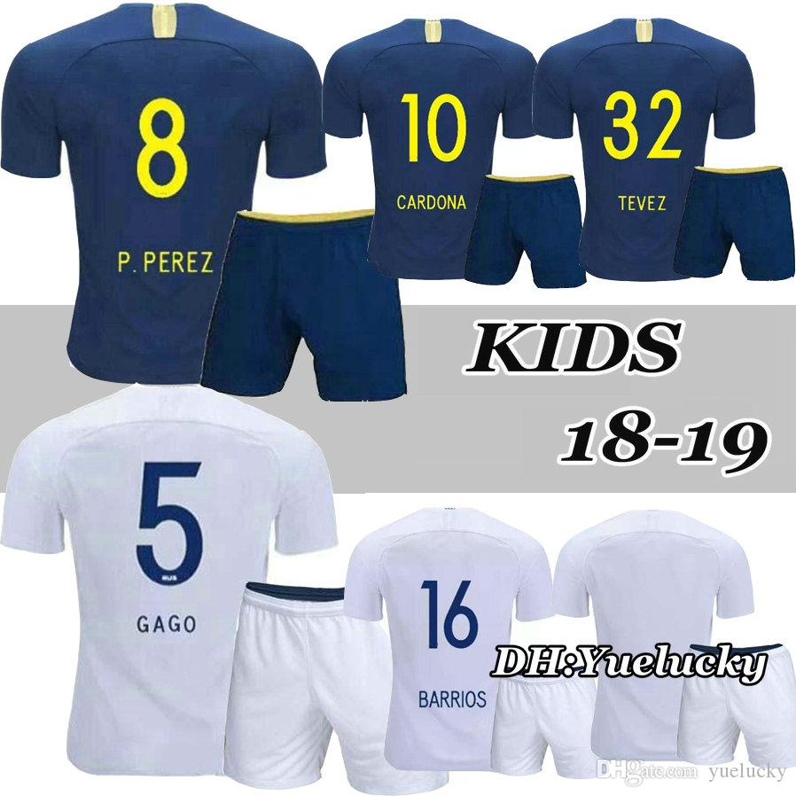 b3d05e456 2019 18 19 Boca Juniors Kids Kits Soccer Jerseys GAGO CARLITOS HOME AWAY Football  Jersey Shirts Boca Junior 2018 2019 Child BOYS TEVEZ From Yuelucky