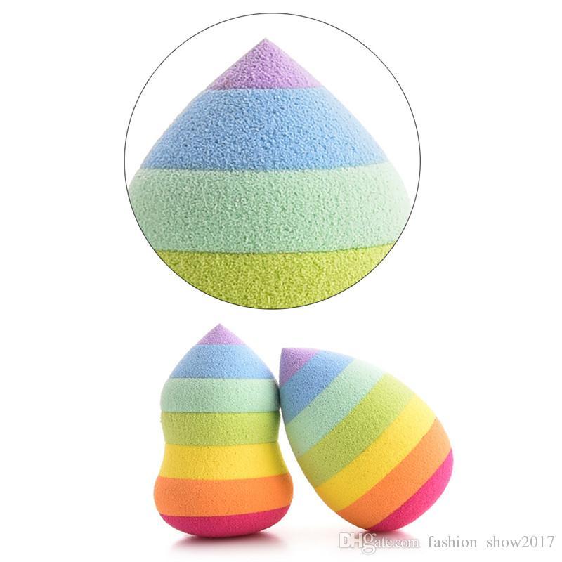Maquillage mignon éponge Blender arc-en-Gourd Waterdrop Fondation poudriers Puff Maquillage visage Pads Exfoliant