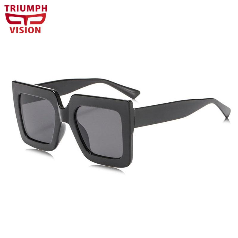 84a174956d8 TRIUMPH VISION Black Mens Oversized Square Male Sun Glasses Big ...