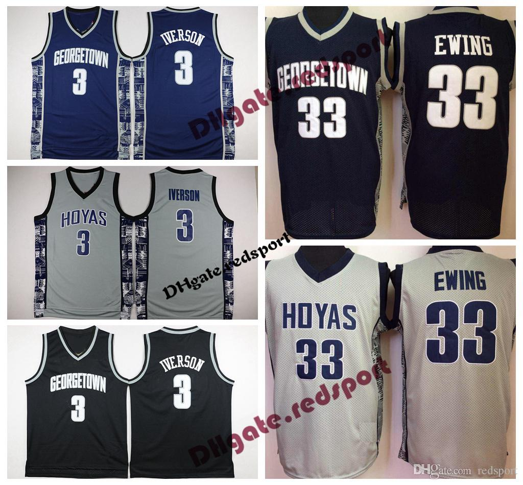 0865676b8 2019 Mens Georgetown Hoyas #3 Iverson College Jersey Cheap Allen Iverson  Patrick Ewing 33 University Basketball Shirt Good Stitched Jersey From  Redsport, ...
