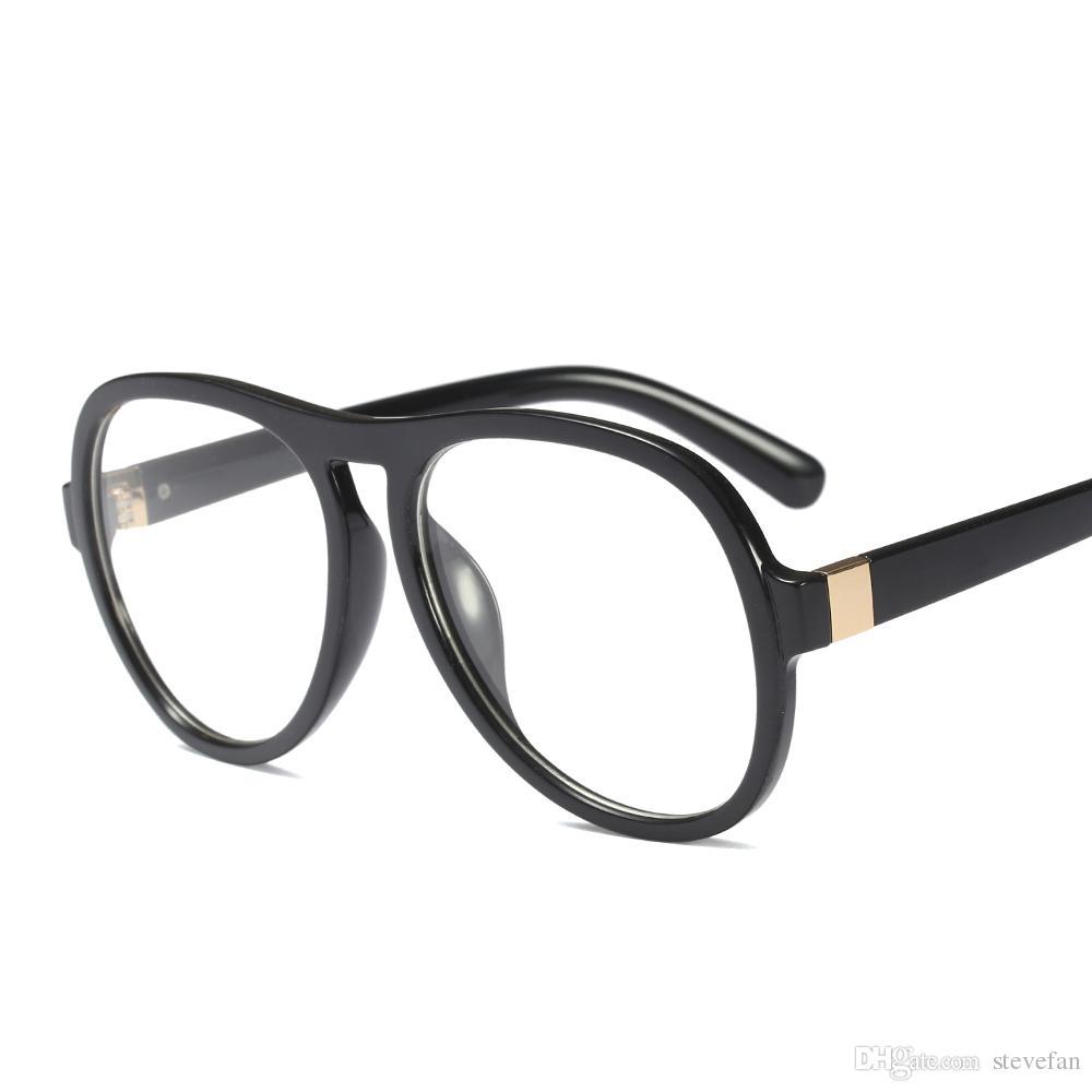 2018 retro oversized eyeglasses frames men plastic clear lens large