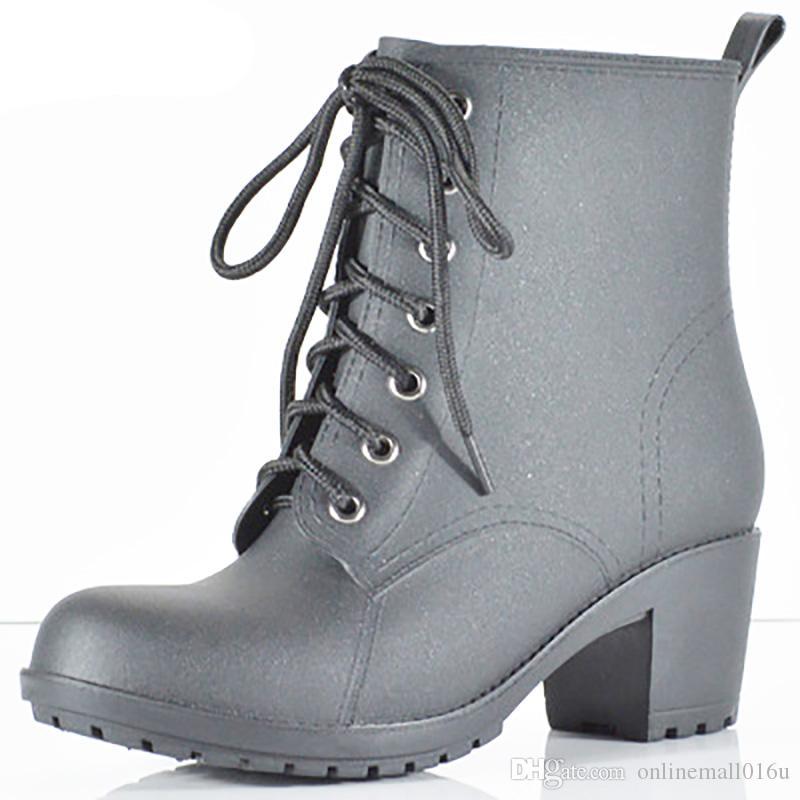 Planos Zapatos De Clásicas Lluvia Mujer Impermeables Botas Compre wTSIYY