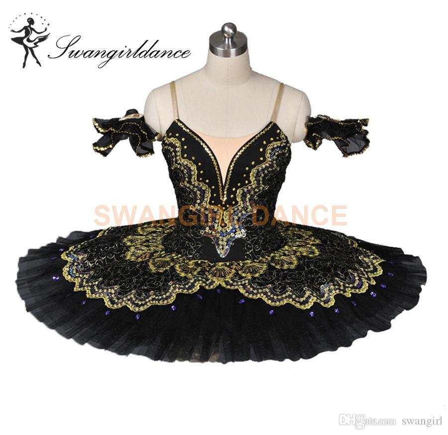 36c5249fcbe8 2019 Black Gold Professional Tutu Paquita Peformance Ballerina Pancake Tutu  For Adults Classic Platter Tutu Costume BT8941A From Swangirl, $180.0 |  DHgate.