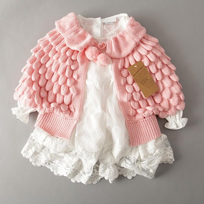 01366f4f64ca Children S Sweaters Toddler Baby Girls Autumn Winter Clothes Button ...