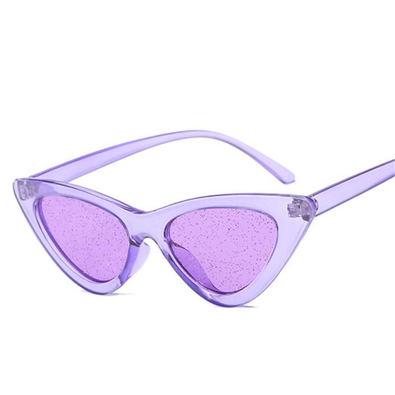 68ab4213d2f Retro Cat Eyes Sunglasses Women Shiny Purple Red Sun Glasses Ladies Sexy  Cateye Vintage UV400 Eyewear Cheap Eyeglasses Online Sunglasses At Night  Lyrics ...